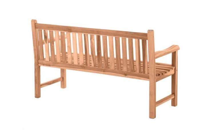 Bancă cu spătar pentru gradină Ruben, 92x150x63 cm, lemn, bej