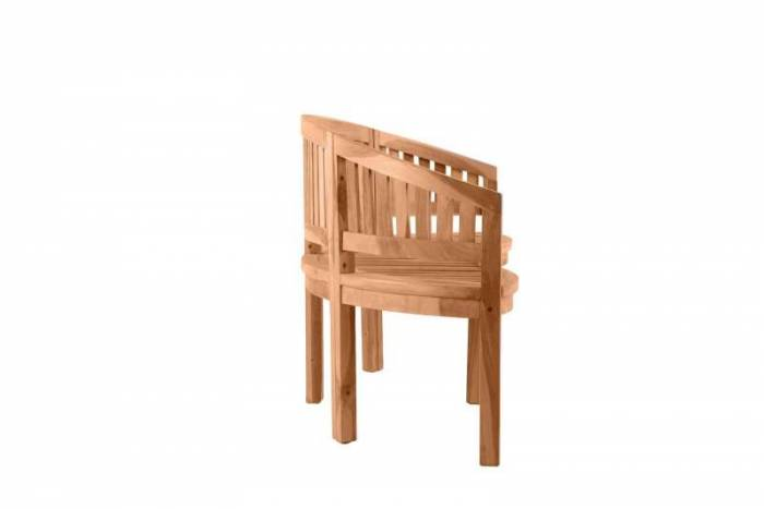 Bancă cu spătar pentru gradină Shakira, 87x150x61 cm, lemn, bej