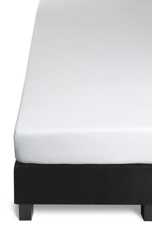 Cearceaf alb de pat elastic 140x200 cm Jersey White