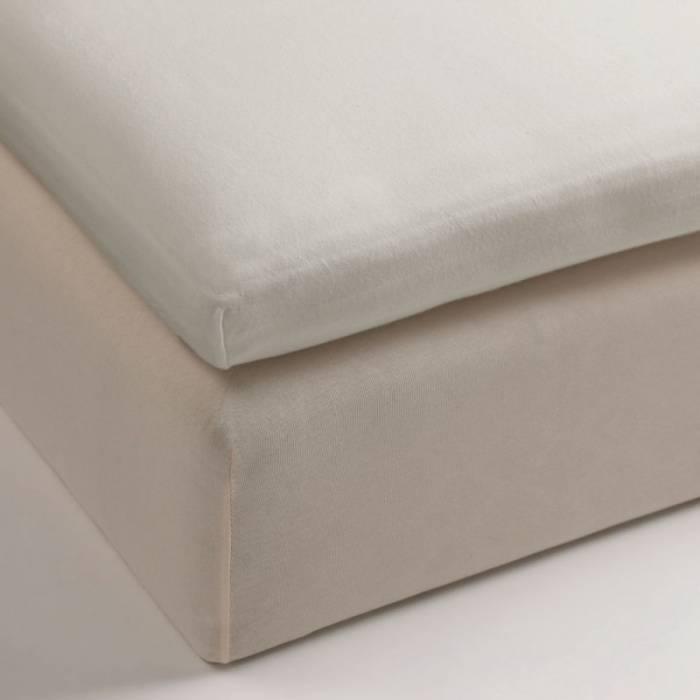 Cearceaf de pat bej închis elastic 80x200 cm Jersey Sand