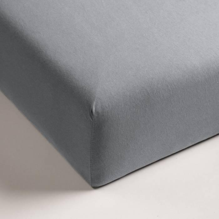 Cearceaf de pat gri elastic 80x200 CM Jersey Light Grey