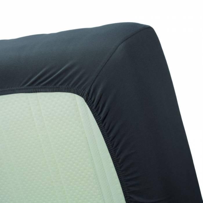 Cearceaf de pat gri închis elastic 160x200 cn Jersey Anthracite