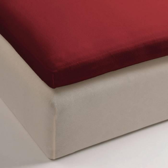 Cearceaf roșu de pat elastic 80x200 cm Jersey Red