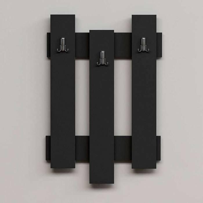 Cuier Nix, pal, negru, 45x3.6x66