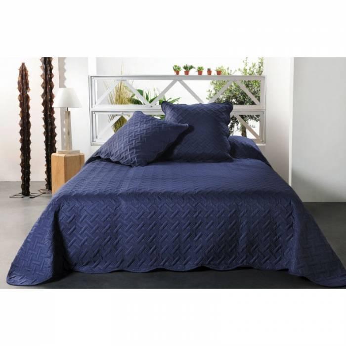 Cuvertură de pat albastră Californie 230x250 cm