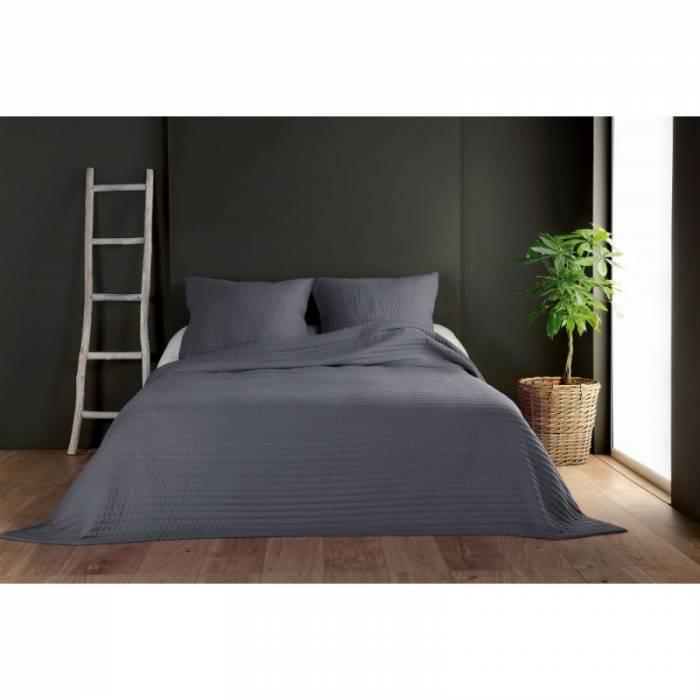 Cuvertură de pat gri închis Riviera 230x250 cm