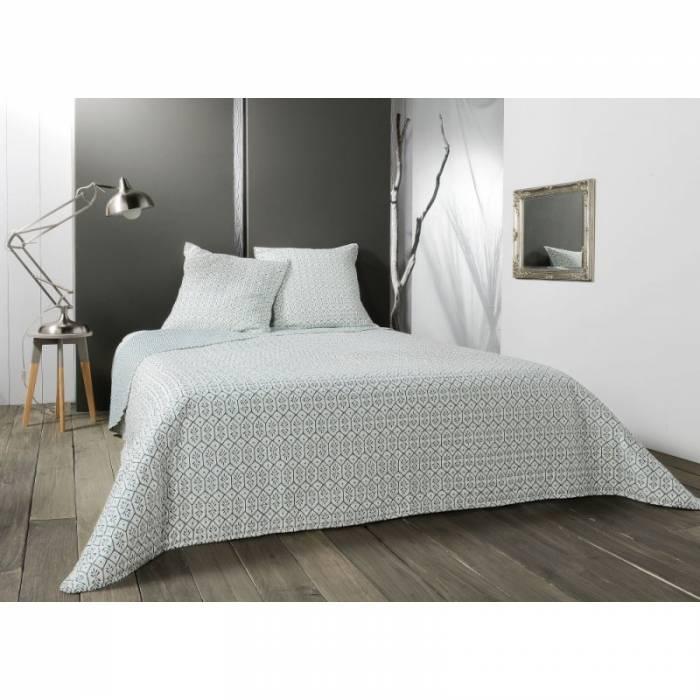 Cuvertură de pat modernă alb/verde Faro 230x250 cm