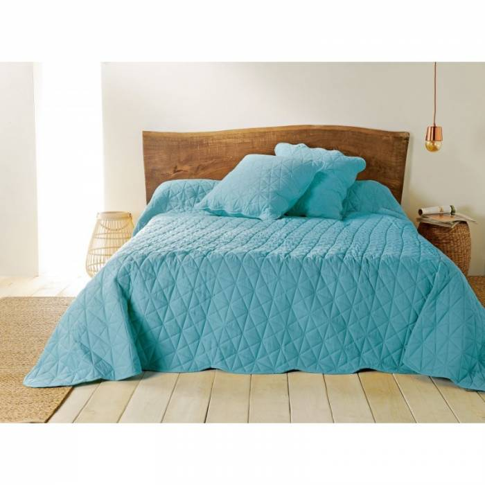 Cuvertură turcoaz de pat Toscane 230x250 cm