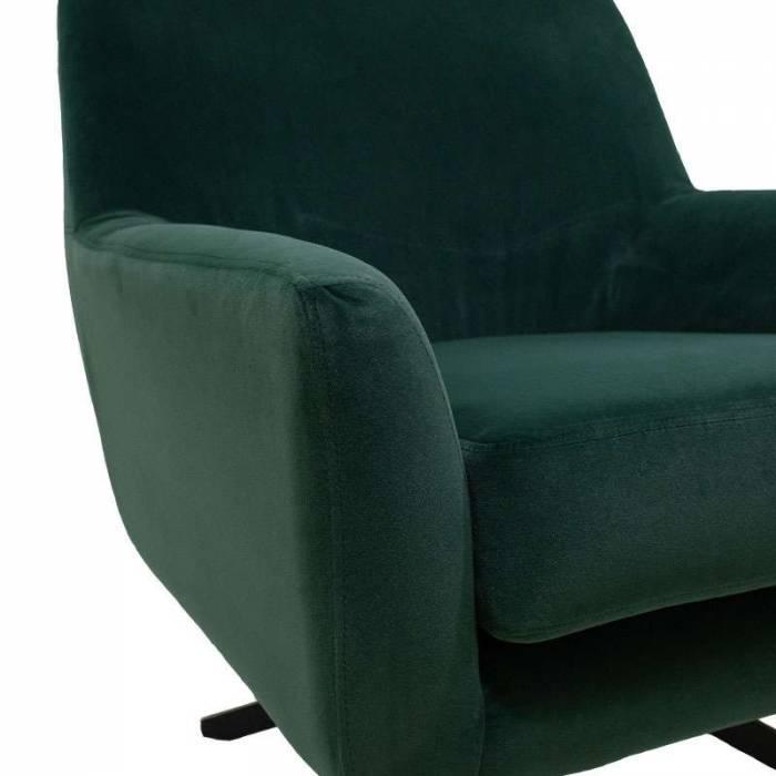 Fotoliu tapițat rotativ Allen Dark Green