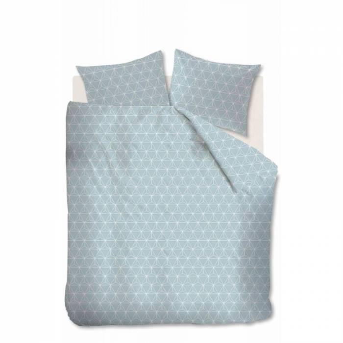 Lenjerie de pat albastră Jent Blue 200x200/220 cm