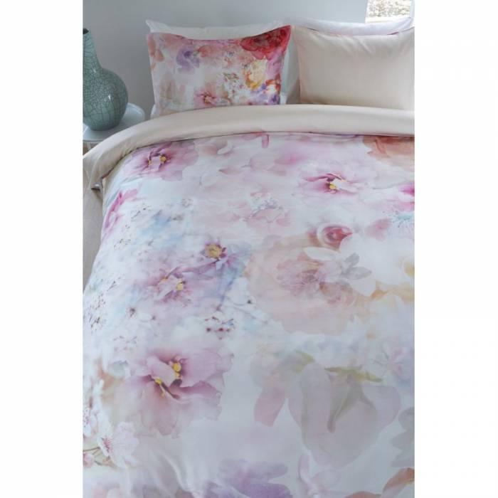 Lenjerie de pat din bumbac satinat Lush Garden Muti 200x200/220 cm