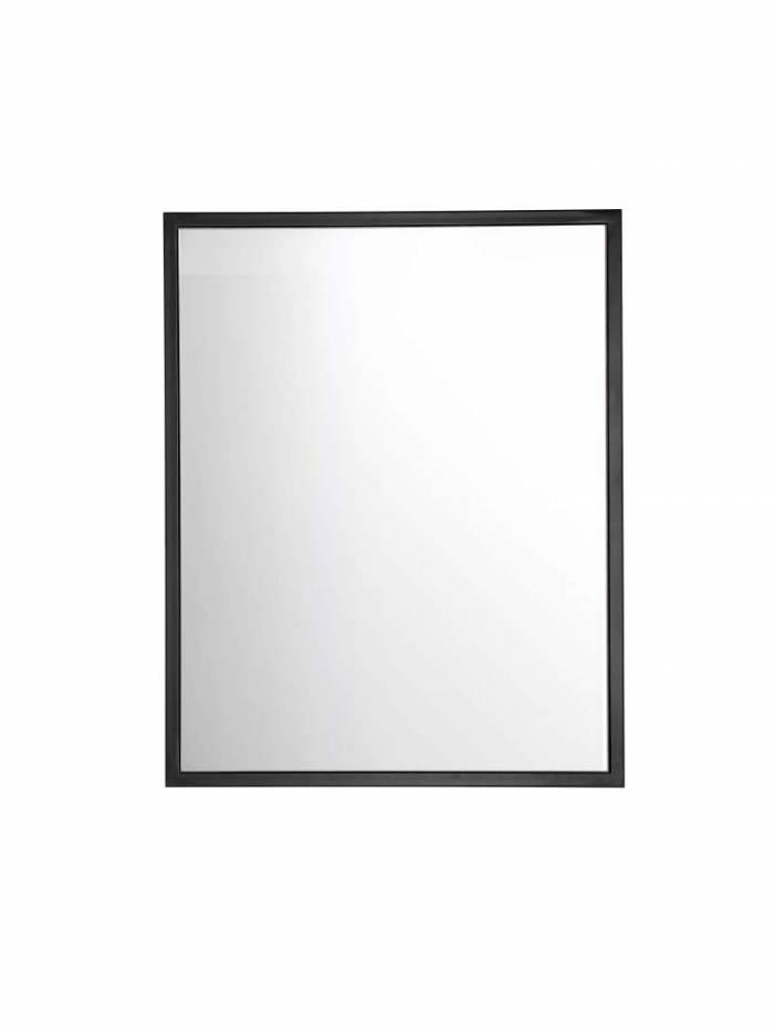 Oglindă Brooklyn 75x60x3 cm, sticlă, negru