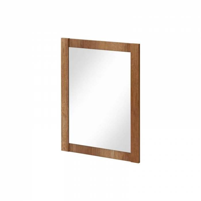 Oglindă pătrată Classic Oak 60x80x2 cm, pal/ sticlă, maro