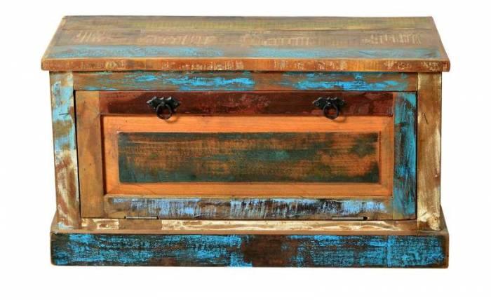 Pantofar Indochina, 45x40x85 cm, lemn reciclat, multicolor