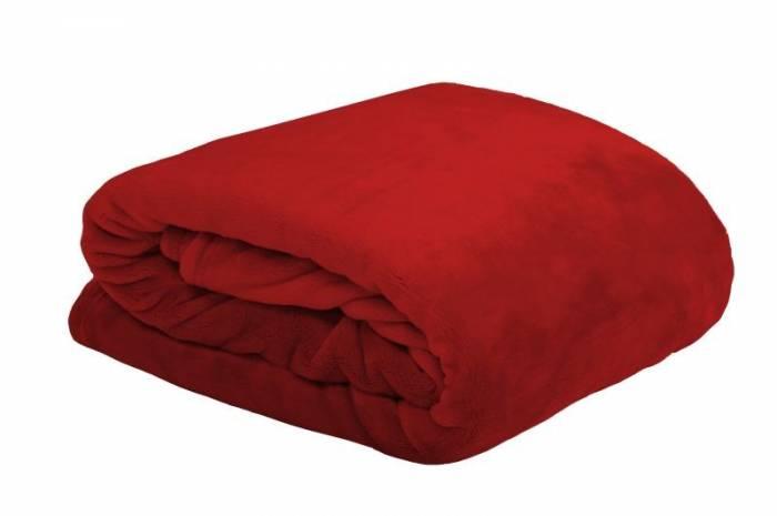 Pătură roșie pufoasă Doudou Rouge 130x160 cm