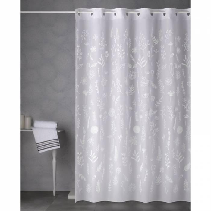 Perdea de duș cu flori albe Ramitas 180x200 cm
