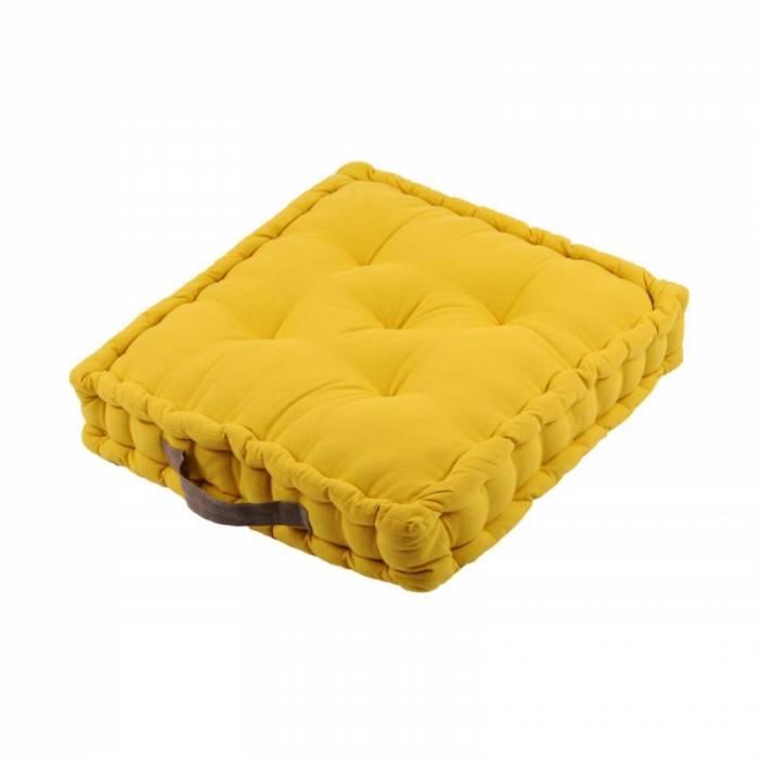 Pernă galbenă depodea Duo Sol Moutarde Taupe 45X45X10 cm
