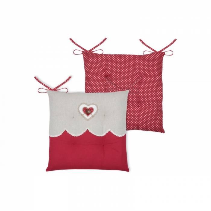 Pernă roșie pentru scaun Lyna Rouge 40x40 cm