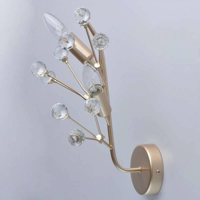 Aplică florală cu cristale Ecaterina