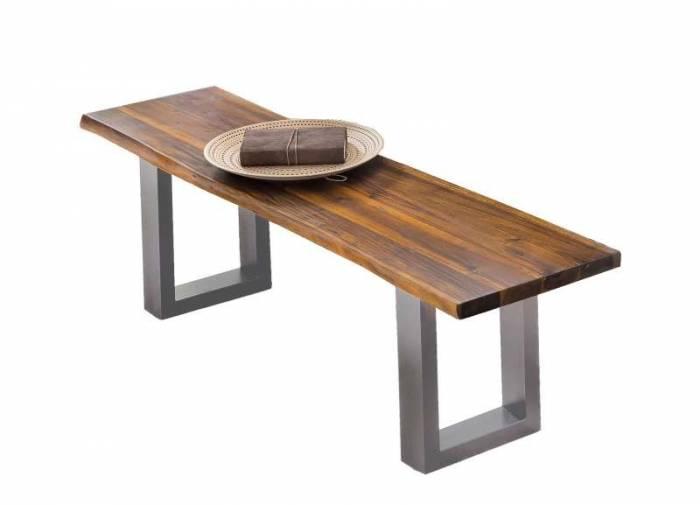 Banchetă din lemn de acacia Hodder Silver, 35mm