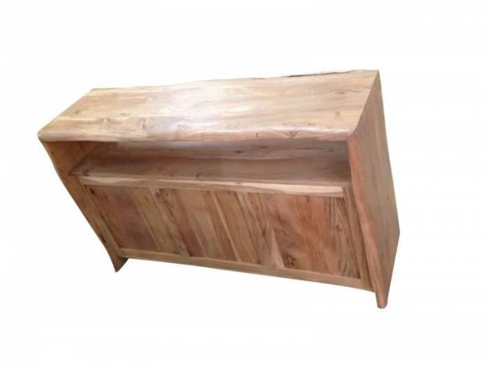 Bufet din lemn masiv Freya, 88x45x145 cm, acacia, maro