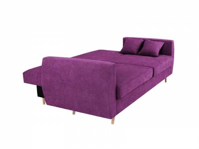 Canapea extensibilă cu spațiu de depozitare Sydney, 3 locuri, violet, 231x98x95 cm