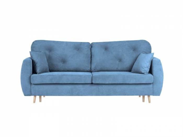 Canapea extensibilă cu spațiu de depozitare Viola, 3 locuri, albastru, 231x98x100 cm