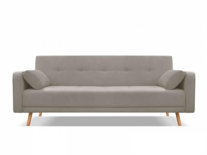 Canapea extensibilă Stuttgart, 3 locuri, gri taupe, 212x93x85 cm