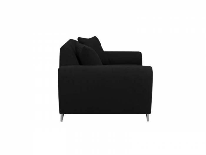Canapea Piano, 3 locuri, negru, 204x90x73,5 cm