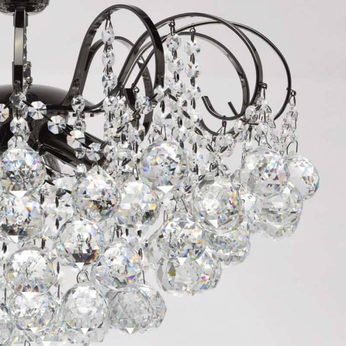 Candelabru argintiu cu cristale Elisabeta