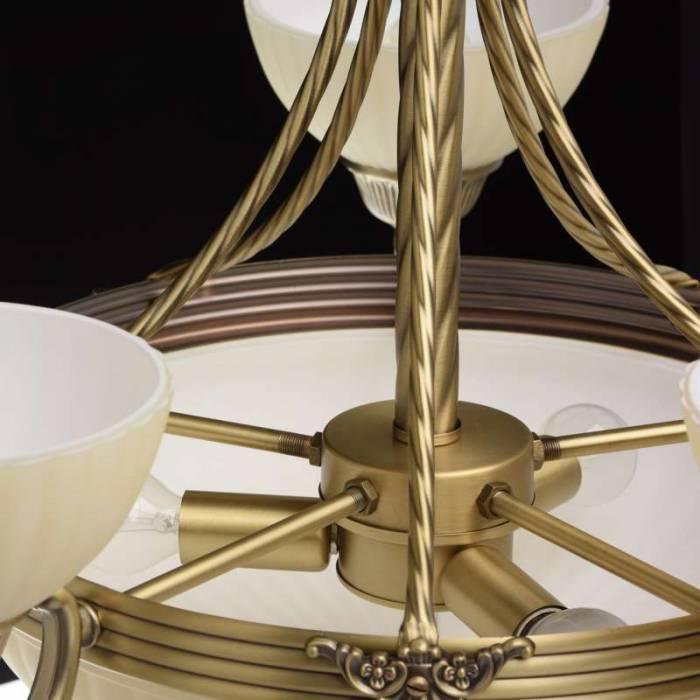 Candelabru auriu cu 6 abajururi Afrodita