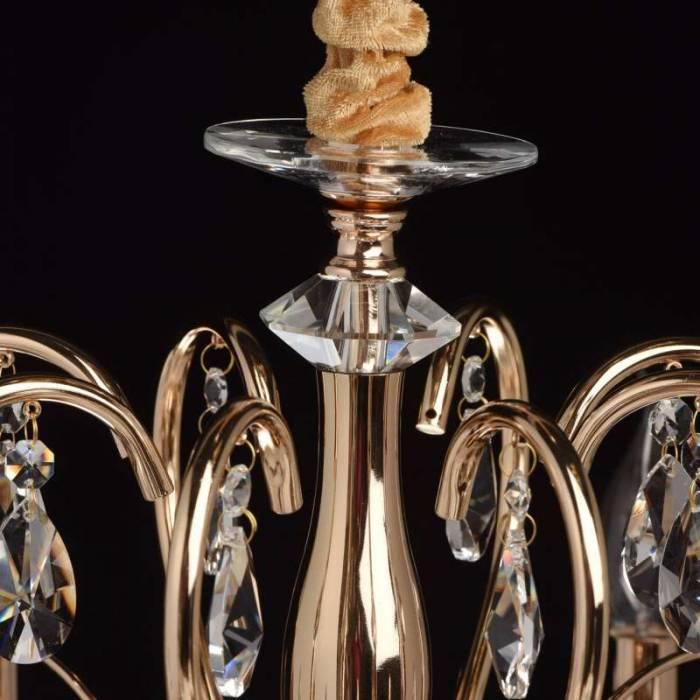 Candelabru auriu cu cristale Mellote