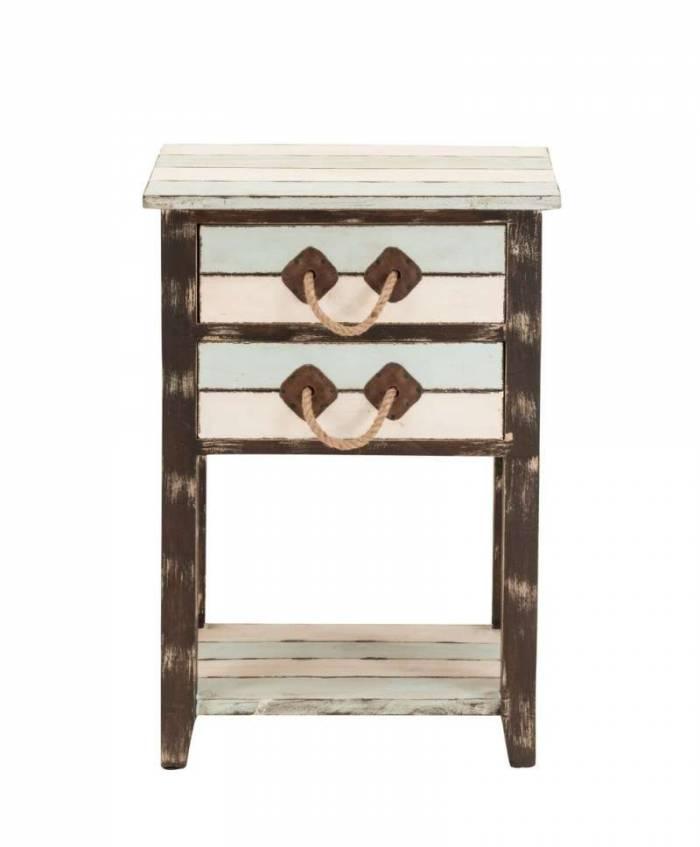 Comodă cu 2 sertare Newport, 66x22x46 cm, lemn, multicolor