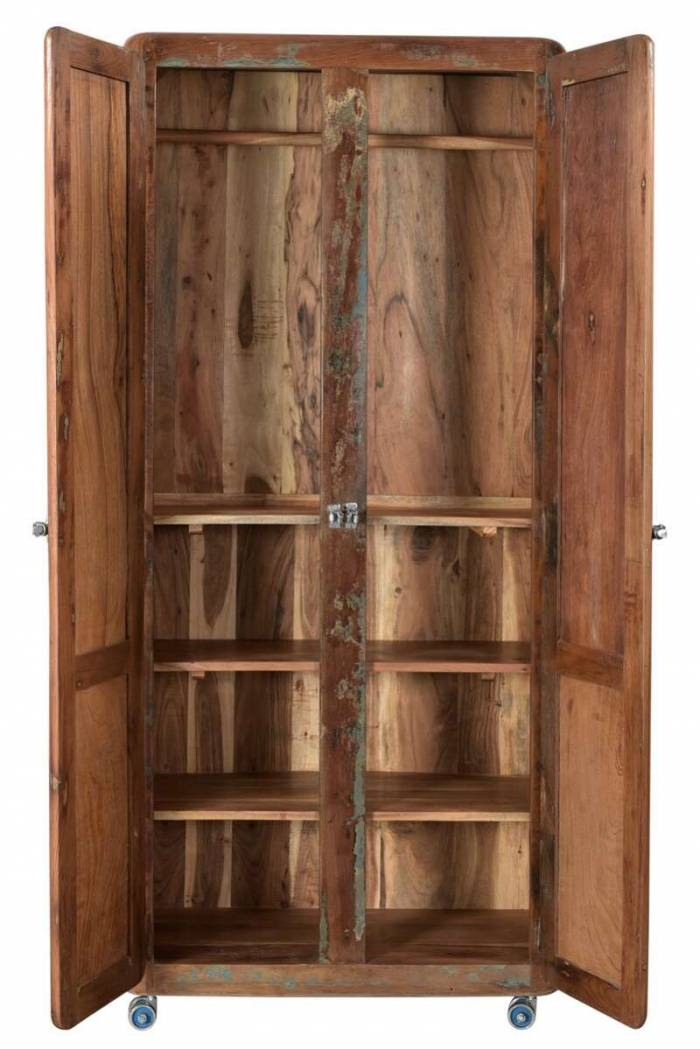 Dulap de haine Old Boat, 180x40x80 cm, lemn, multicolor