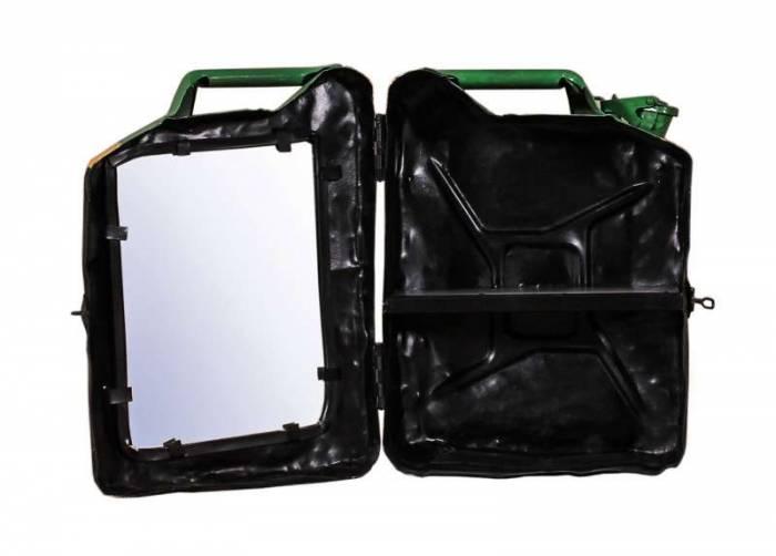 Dulap suspendat Jamaica, 48x15x35 cm, metal, verde/galben/negru