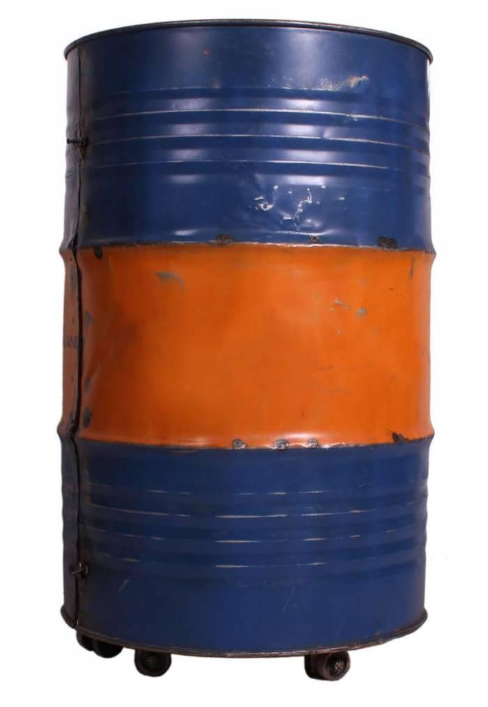Etajeră în stil industrial Farland, 95x60x60 cm, metal, portocaliu/albastru