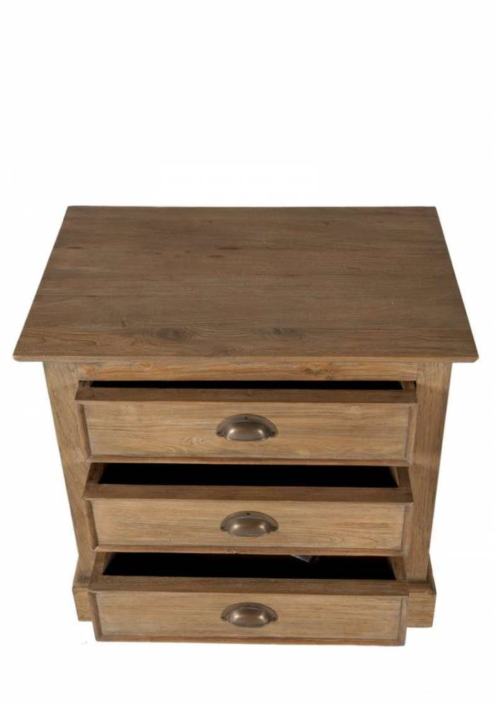 Fotoliu, 60x45x66 cm, lemn, maro