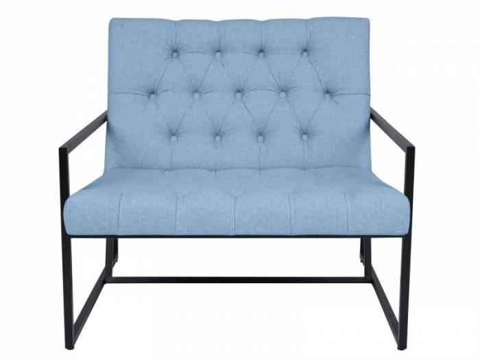 Fotoliu Aster, albastru deschis, 89x85x78 cm