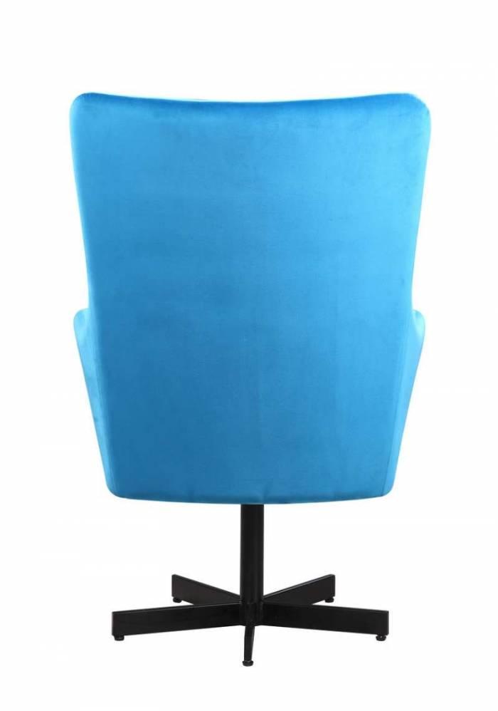 Fotoliu catifea albastră Brigitte
