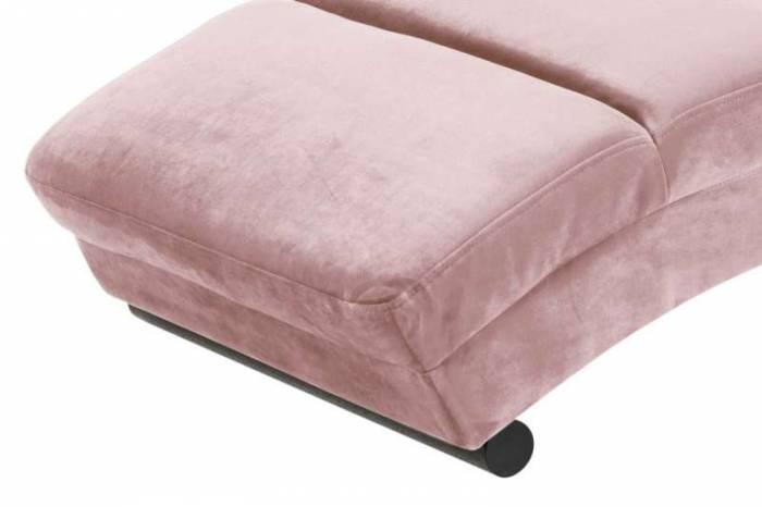 Fotoliu modern Relax, catifea, roz