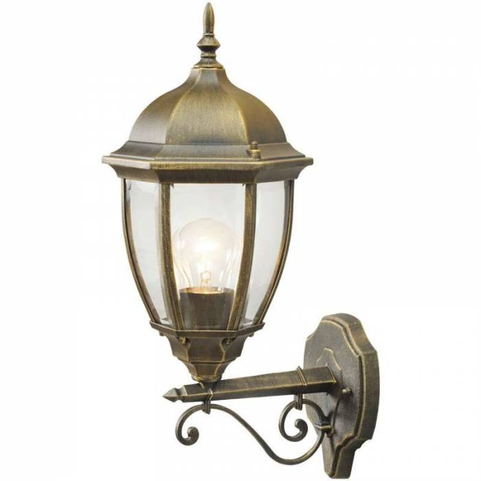 Lampă de exterior Adalberto, 26x21x49 cm, aluminiu, negru