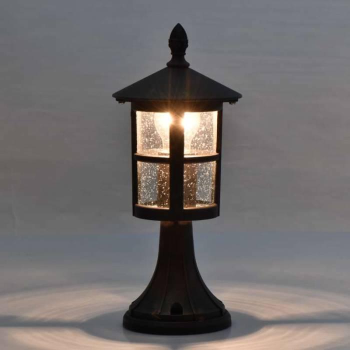 Lampă exterior Caren, 36x15.5 cm, metal/ sticla, negru