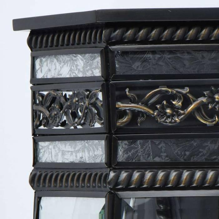 Lampă exterior de perete Johnny, 10x32x25 cm, alama/ sticla, alama