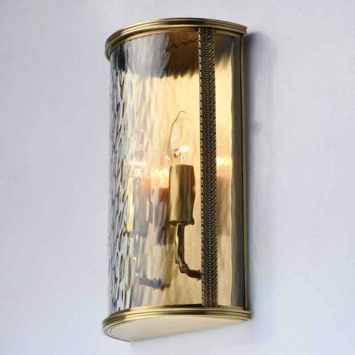 Lampă exterior de perete Julie, 10x20x35 cm, alama/ sticla, alama