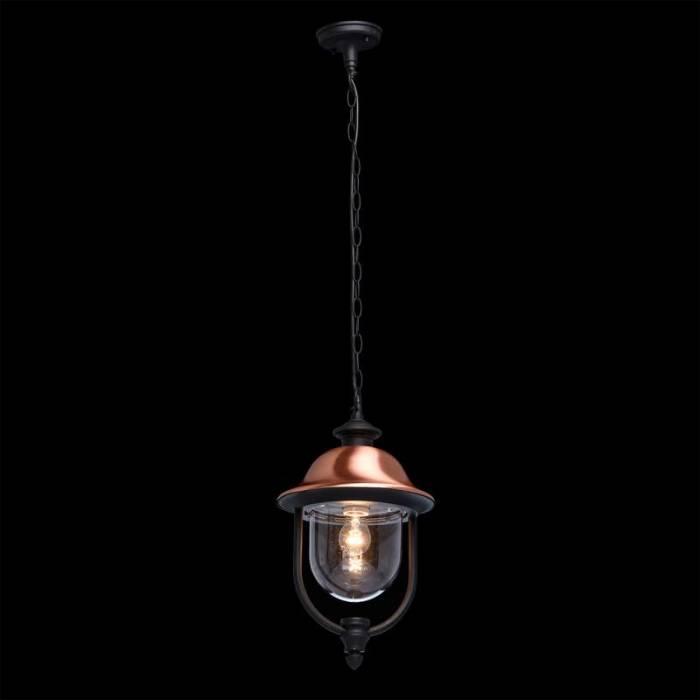 Lustră de exterior Christin, 106x25 cm, aluminiu/ acril/ cupru, negru