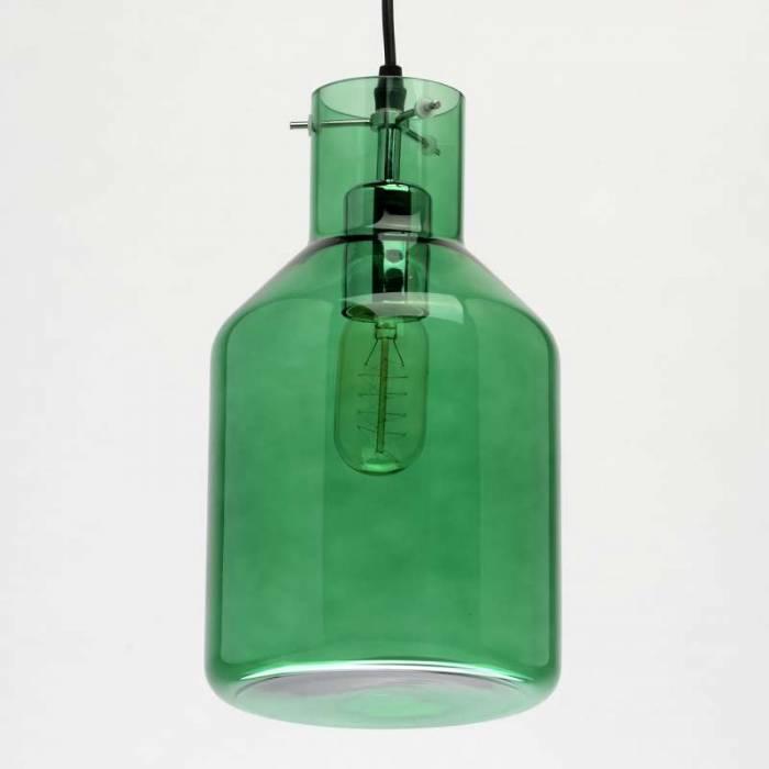 Lustră modernă cu abajur verde Viveka