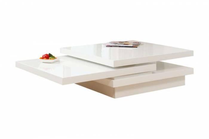 Masă de cafea cu blat mobil Bina, 120x80 cm, MDF, alb