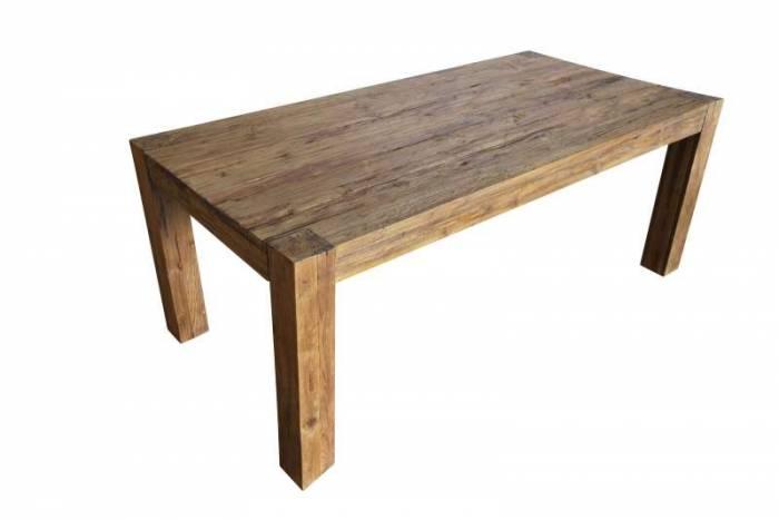 Masă de dining Frama, 78x100x200 cm, lemn, maro