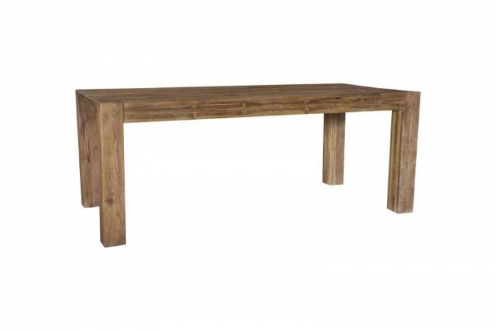 Masă de dining Frama, 78x100x240 cm, lemn, maro