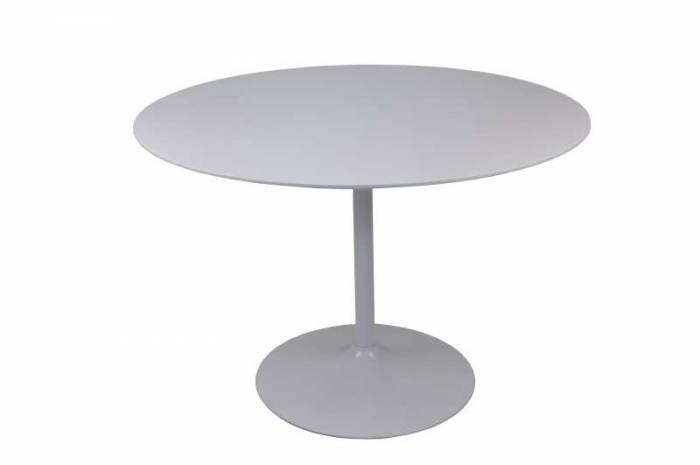 Măsuță de cafea Callista, 120 cm, metal/MDF, alb